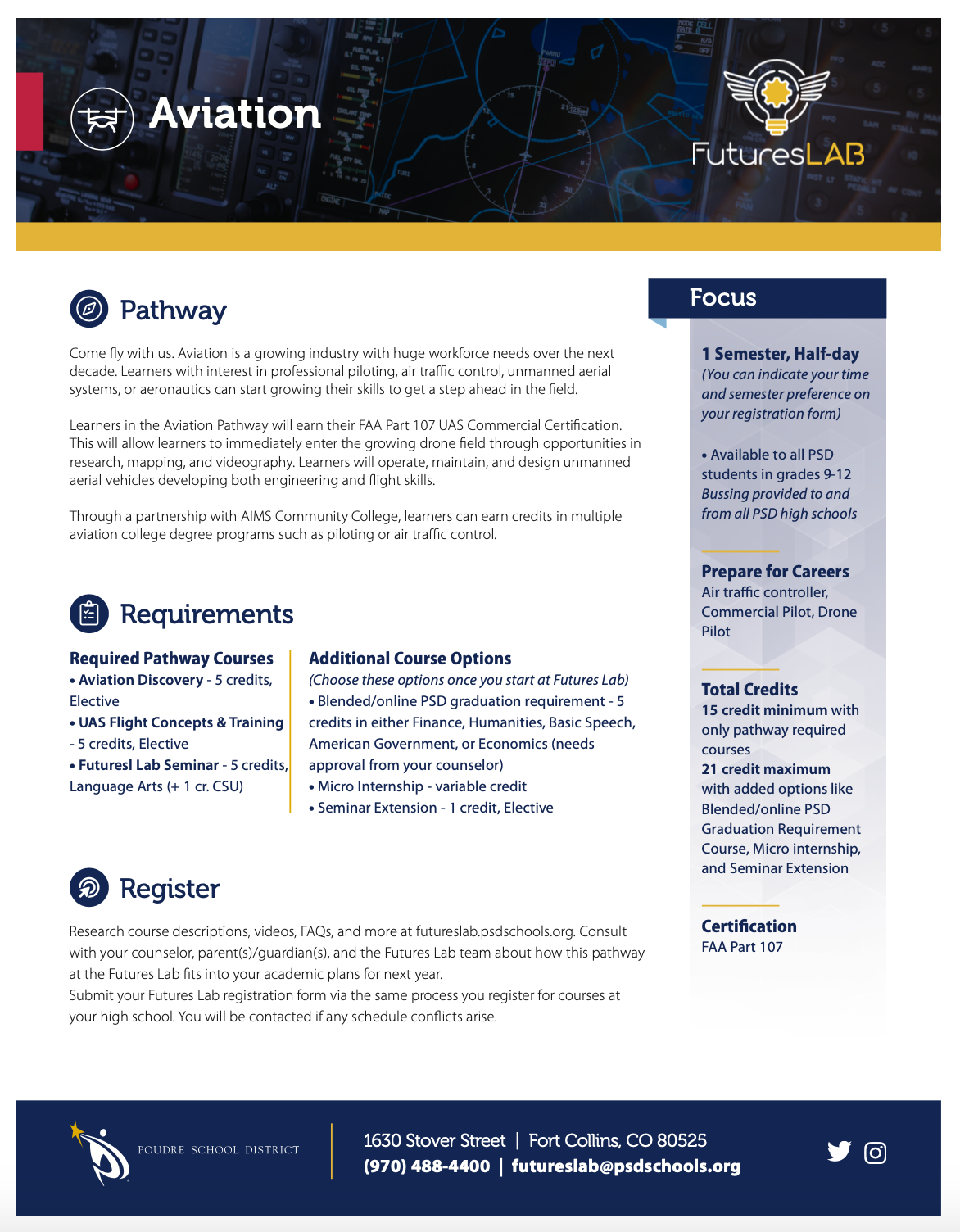 Aviation Pathway flyer