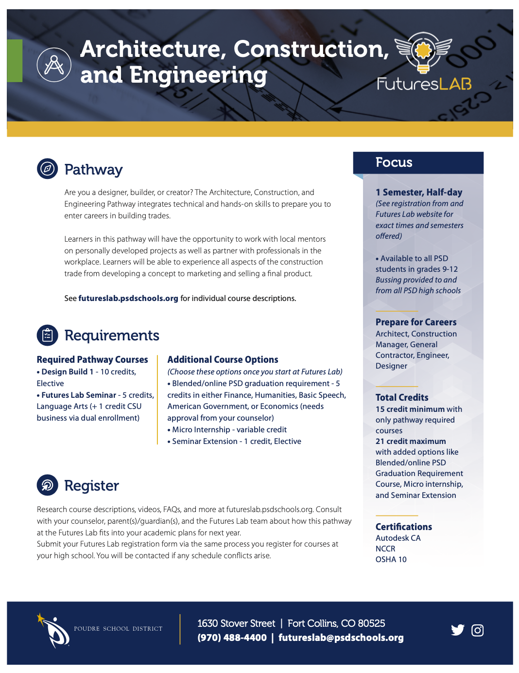 Architecture, Construction, & Engineering flyer